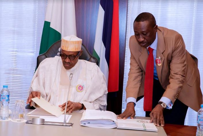 Buhari resumes duty at his office attacked by roddents