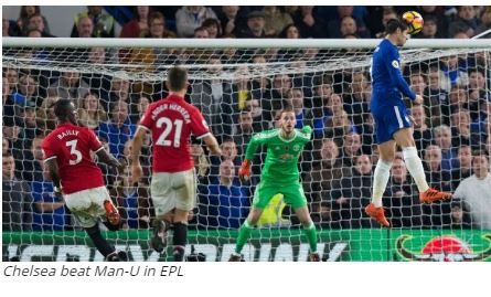 Chelsea beat Man-U in EPL