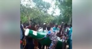 Video: Man who loved alcohol too much while alive buried in bottle-shaped coffin