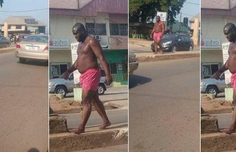 Man allegedly runs mad in Owerri as people call on commissioner for happiness to proffer solution