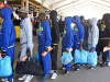 File: Some Nigerian voluntary returnees from Libya on arrival at the Murtala Muhammed International Airport, Lagos