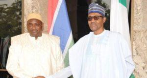 Adama Barrow of Gambia meets with President Buhari
