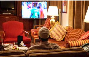 President Muhammadu Buhari watching football match between Super Eagles and Angol: Eagles won by 2-1