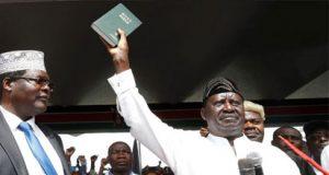 Raila Odinga takes oath of office as opposition president