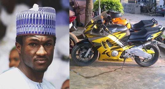 President Muhammadu Buhari's son, Yusuf and power bike