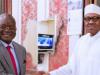 President Buhari and the Benue state Governor, Samuel Ortom