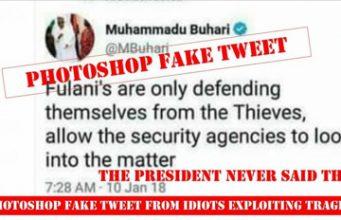 Fake Buhari's twitter handle, tweets