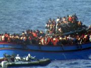 Migrants on Mediterranean sea