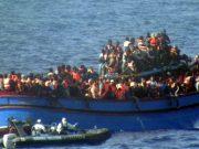 Migrants on Mediterranean sea