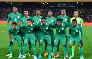 Nigeria team Super Eagles picture during the 2018 CHAN semifinals.