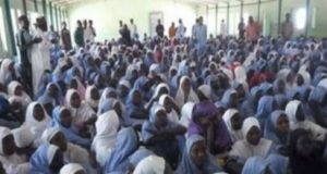Dapchi schoolgirls during the headcount on Tuesday.