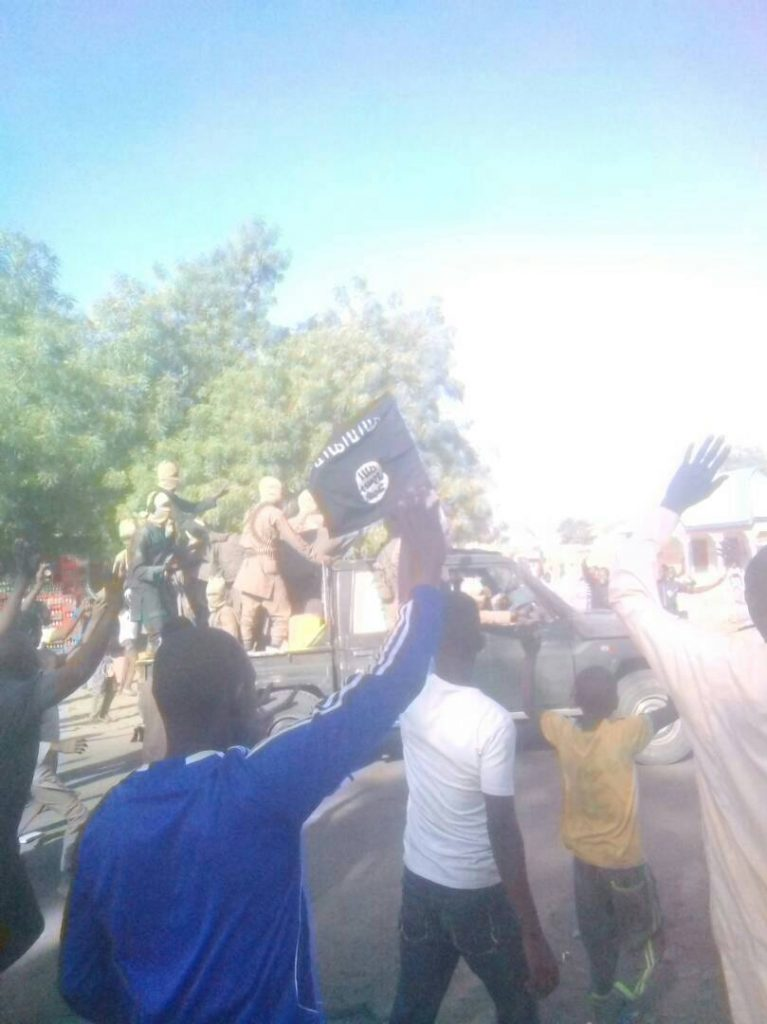 Dapchi residents in Yobe state hailing Boko Haram terrorists after the terrorists came and dropped freed Dapchi secondary school girls they abducted for Months