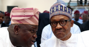 President Muhammadu Buhari and the Lagos state Governor, Akinwunmi Ambode