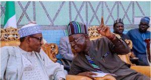 President Buhari and Governor Ortom during Buhari's visit to Benue over herdsmen killings