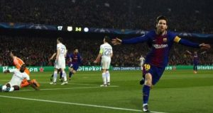 Lionel Messi scored two and set up another as the Nou Camp paid tribute to the Argentine forward with a huge 'God Save The King' banner