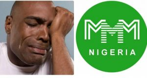Ponzi scheme, MMM and member crying after losing much money to the scheme