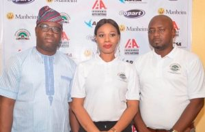 Mrs. Ada Atoba, General Manager, Sales & Operation, Import Your Car Nigeria flanked by Mr. Terry Atoba during the launch of auto brokerage service firm, Import Your Car Nigeria in Lagos