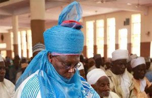 Former Vice President, Atiku Abubakar at the first Jumu'at prayer in the 2018 Ramadan season with the Yola Ummah at the Yola Central Mosque, Yola, Adamawa State.