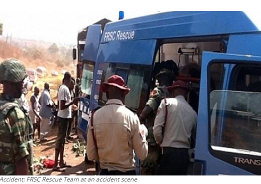 Accident: FRSC Rescue Team at an accident scene