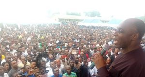 Amaechi addressing supporters
