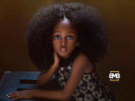 Nigerian 5-yr-old Jare who is 'world's most beautiful girl'