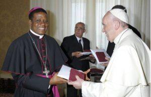 Pope Francis and Bishop, Catholic Diocese of Nsukka, Most Rev. Godfrey Igwebuike Onah, popularly called 'Father Bishop'