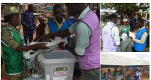 Voting during Ekiti state governorship election