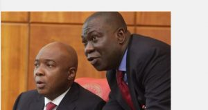 Senate President, Dr. Abubakar Bukola Saraki and the Deputy Senate President, Professor Ike Ekweremadu