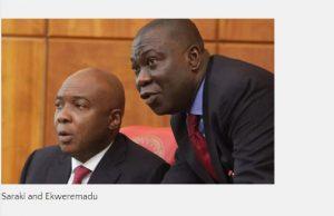 Senate President, Dr. Abubakar Bukola Saraki and the Deputy Senate President, Professor Ike Ekweremadu