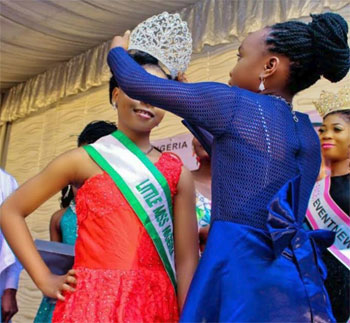 9yr-old Mmesoma Ikwuagwu, from Abia state, described as prettier than Nicki Minaj becomes Little Miss Nigeria, being crowd