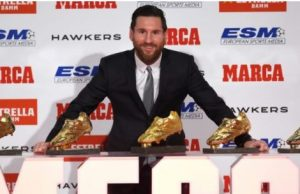 Lionel Messi now wins record 5th Golden shoe