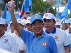 Cambodian premier, Hun Sen,