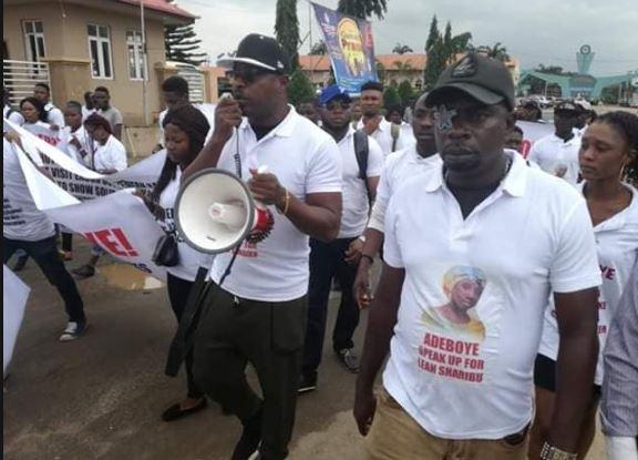 Breaking: Protesters storm RCCG, ask Pastor Adeboye to speak up against injustice