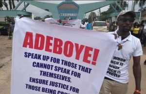 Breaking: Protesters storm RCCG, ask Pastor Adeboye to speak up against injustice