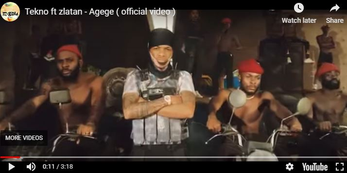 Tekno releases music video, Agege