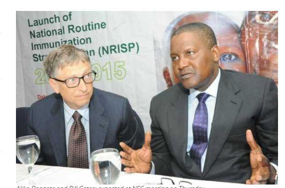 Aliko Dangote and Bill Gates