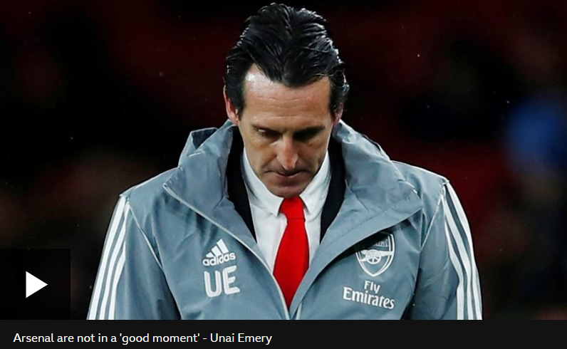 Breaking: Arsenal sacks manager, Unai Emery