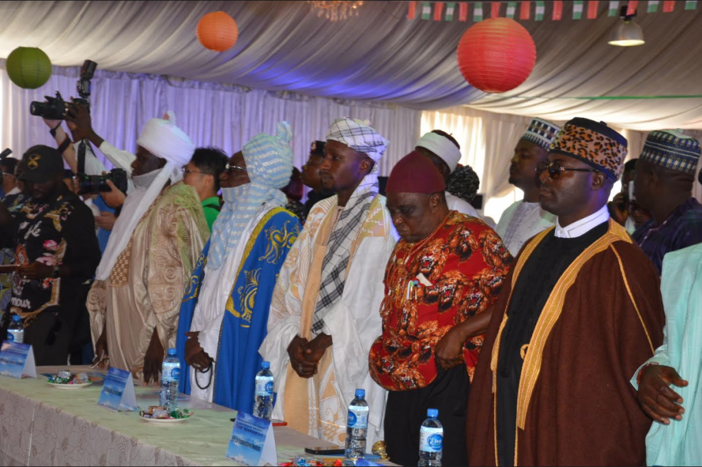 Dignitaries at the completion ceremony as China completes satellite TV installation in 1,000 villages in Nigeria