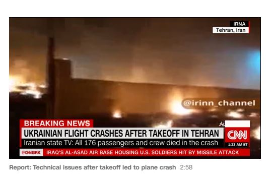 Iran plane, a Kiev-bound Ukraine International Airlines Boeing 737 plane, on Wednesday, crashed after takeoff from Tehran on Wednesday, killing all 176 people on board.