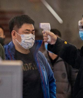 Coronavirus testing in Wuhan, China