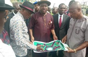 Bayelsa State Governor, Siri at the project sites