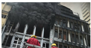 INEC on fire